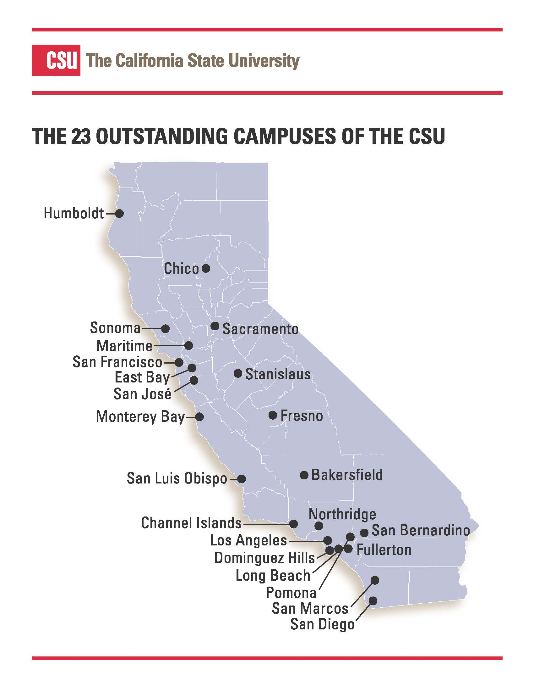 Image result for csu map